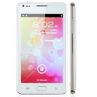 "New 5.08""Unlock Android N9000 Smart cell phone 4.0 MTK6575 Dual Sim Color White Cell Phones & Accessories"