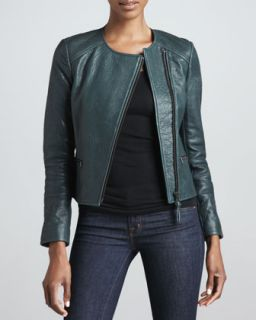 Womens Dorothy Leather Moto Jacket   Mackage   Jade (SMALL/2 4)