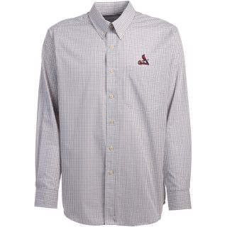 Antigua St. Louis Cardinals Mens Monarch Long Sleeve Dress Shirt   Size Large,