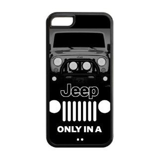 Jeep Apple iPhone 5C Case, diy & customized Jeep Wrangler iPhone 5C Black Plastic and Silicone Protective Case Cover, Personalized, Fashion, Cool, Funny, Vintage and Retro Style Phone Case at Private custom Cell Phones & Accessories
