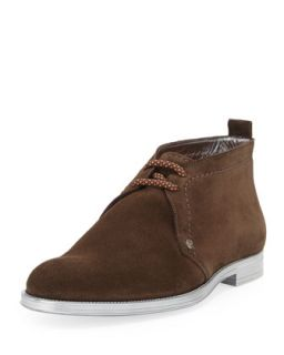 Dunraven Mens Suede Chukka Boot, Brown   Jimmy Choo   (45)