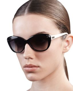angelique cat eye sunglasses, black/cream   kate spade new york   Black cream
