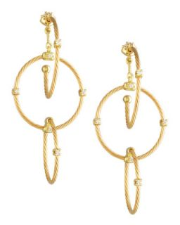 18k Yellow Gold Diamond Link Earrings, 41mm   Paul Morelli   Yellow (18k ,41mm )