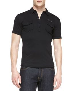 Mens T. Maya Jersey Polo Shirt   Diesel   Black (SMALL)