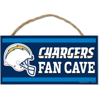 Wincraft San Diego Chargers 5X10 Wood Sign with Rope (83065013)