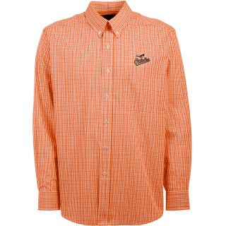 Antigua Baltimore Orioles Mens Monarch Long Sleeve Dress Shirt   Size Medium,
