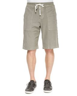 Mens Twill Cargo Shorts, Olive   James Perse   Olive (1)