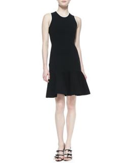 Womens sleeveless fluted sweater dress, black   kate spade new york   Black