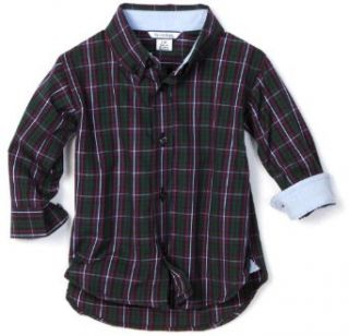Hartstrings Baby Boys Infant Plaid Woven Button Front Shirt, Blackwatch, 12 Months Clothing