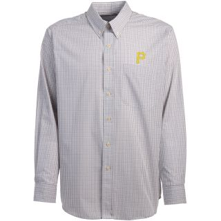 Antigua Pittsburgh Pirates Mens Monarch Long Sleeve Dress Shirt   Size Large,