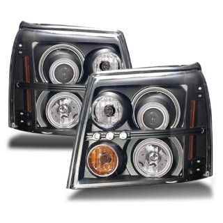 Cadillac Escalade ESV Black CCFL Halo Projector Headlights /w Amber (HID Compatible) Automotive