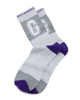 MVP Mens Socks, Light Gray   Arthur George by Robert Kardashian   Light grey