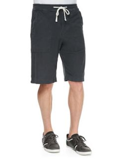 Mens Twill Cargo Shorts, Charcoal   James Perse   Charcoal (1)