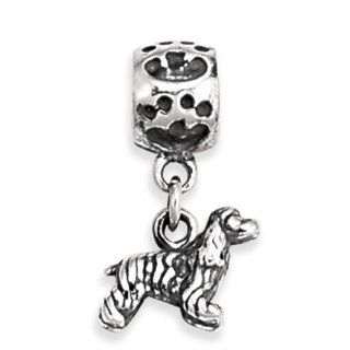 .925 Sterling Silver Cocker Spaniel Dog Animal Charm For Pandora, Chamilia, Biagi, Personality and Link Bracelets Jewelry
