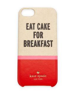 eat cake resin/canvas iPhone 5 case, multi colors   kate spade new york   Multi
