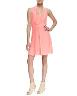 Womens Ballet Pleated Halter Dress, Pink   Amanda Uprichard   Pink (MEDIUM)