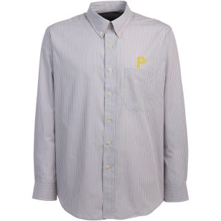 Antigua Pittsburgh Pirates Mens Republic Button Down Long Sleeve Dress Shirt