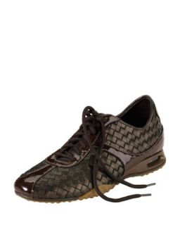 Air Bria Woven Leather Oxford, Dark Brown   Cole Haan   Dark brown (35.0B/5.0B)