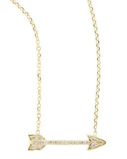 14k Yellow Gold Diamond Arrow Pendant Necklace   KC Designs   Gold (14k )