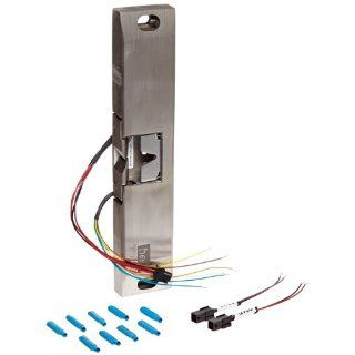 HES 9600 Series Stainless Steel Fire Rated Surface Mounted Electric Strike Body for Rim Exit Devices with Locked State Monitoring, Satin Stainless Steel Finish Door Lock Replacement Parts