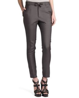 Womens Rocky Bow Belt Pants, Gray   Jil Sander   Gray (42/12)