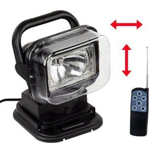 Remote Control 12V 35W HID Spotlight Magnetic or Permanent Mount 1 Year Warranty  Magnetic Spotlight For Truck  Sports & Outdoors