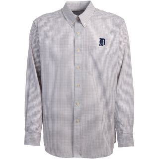 Antigua Detroit Tigers Mens Monarch Long Sleeve Dress Shirt   Size Large,