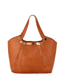 Iron Horse Studded Leather Tote Bag, Whiskey   Foley + Corinna