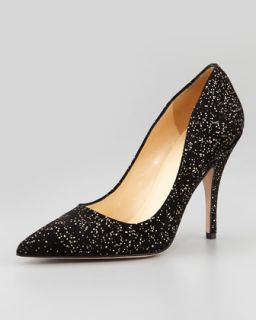 licorice gold fleck suede pump, black/gold   kate spade new york   Black/Gold