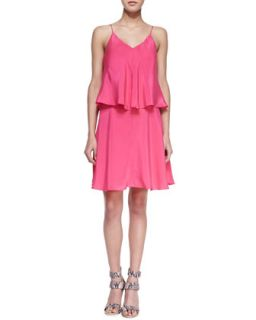 Womens Alana Tiered V Back Dress   Amanda Uprichard   Pink (MEDIUM)