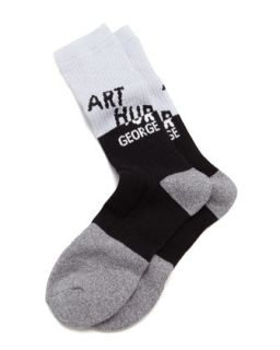 AG Swag Mens Socks, Black/Gray   Arthur George by Robert Kardashian   Grey