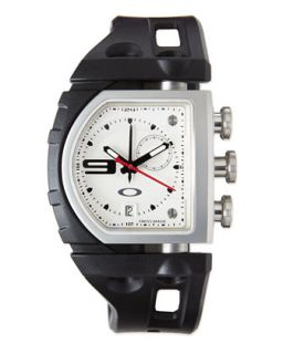 Mens Fuse Box Unobtainium Rubber Strap Watch   Oakley   Black/White (ONE SIZE)