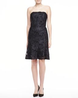 Womens Strapless Lace Dress, Black   David Meister   Black (10)