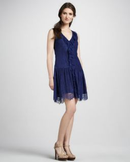 Womens Lace Dropped Waist Dress   Ali Ro   Midnight (2)
