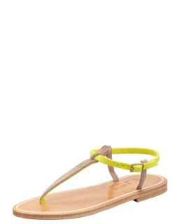 Picon Two Tone Thong Slingback Sandal   K. Jacques   Taupe/Amarillo(yw (35.0B/5.