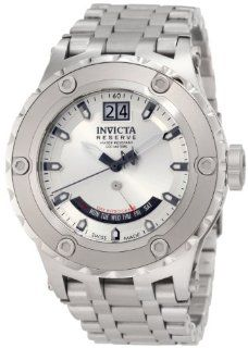 Invicta Men's 1584 Reserve Retrograde Silver Dial Stainless Steel Watch at  Men's Watch store.