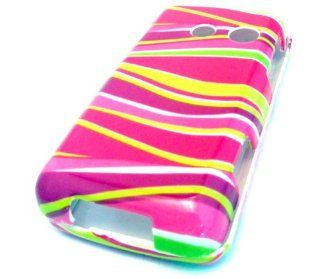 LG 511c Straight Talk Pink Zebra Yellow Swirls Design HARD CASE SKIN COVER PROTECTOR Cell Phones & Accessories