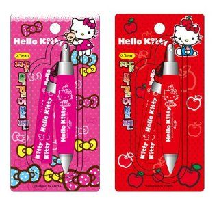 Hello Kitty Sanrio Mini Pens w/ Lanyard   Pink & Red   PAIR  Rollerball Pens