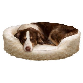 PAW Snuggle Round Comfy Fur Pet Bed   Dog Beds