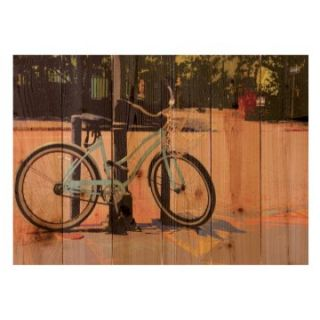 Gizaun Art Blue Cruiser Indoor/Outdoor Full Color Cedar Wall Art   Outdoor Wall Art