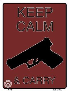 Keep Calm And Carry (2nd Amendment) Metal Novelty Parking Sign Automotive