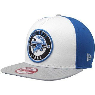 NFL New Era Detroit Lions Retro Circle Snapback Hat   White/Light Blue/Gray  Sports Fan Baseball Caps  Sports & Outdoors