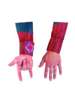 Disguise The Amazing Spider Man 3D Movie Light Up Adult Web Shooter, Red/Blue, One Size Costume Clothing