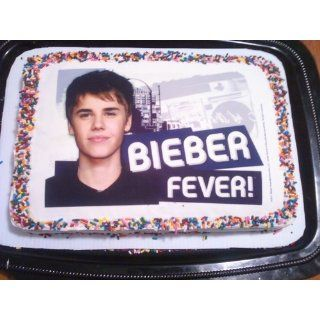Justin Bieber Icing Art Image Cake Topper Toys & Games