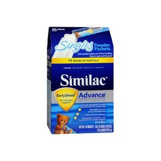 Similac Advance On the Go Infant Formula Powder Singles 16 Pack 16 Packets makes a total of 64 Fluid Ounces 64.0 oz. (Quantity of 4) Health & Personal Care
