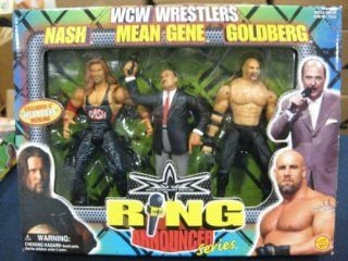 WCW Rng Announcer Series   Kevin Nash, Mean Gene Okerlund and Golderg 3 Pack Toys & Games