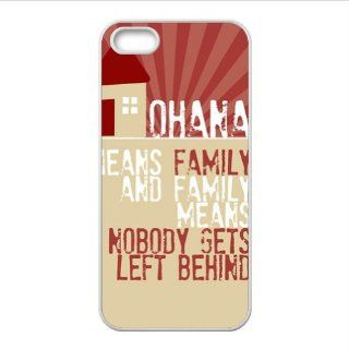 FashionCaseOutlet Ohana Means Family Lilo and Stitch Accessories Apple Iphone 5 TPU Cases Covers Cell Phones & Accessories