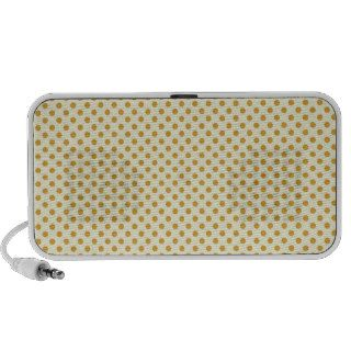 Pretty Autumn Brown Dot Pattern Notebook Speaker