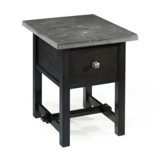Magnussen Hinshaw Wood Rectangular End Table   End Tables