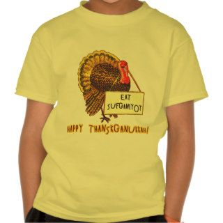 Eat Sufganiyot Funny Thanksgiving Hanukkah Tee